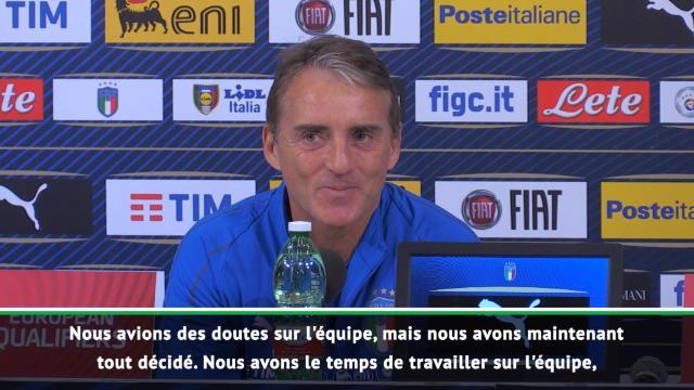"""Italie - Mancini : """"Pas facile de remplacer certains joueurs"""""""