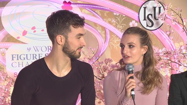 'We've come a long way in five years!' - Papadakis and Cizeron react to world title