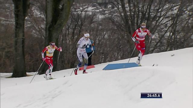 Йохауг шла на финиш первой, но впервые после дисквалификации проиграла дистанционную гонку
