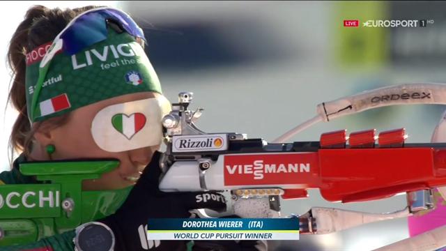 Dorothea Wierer è 12esima a Oslo ma vince la Coppa di inseguimento: prima italiana a riuscirci!