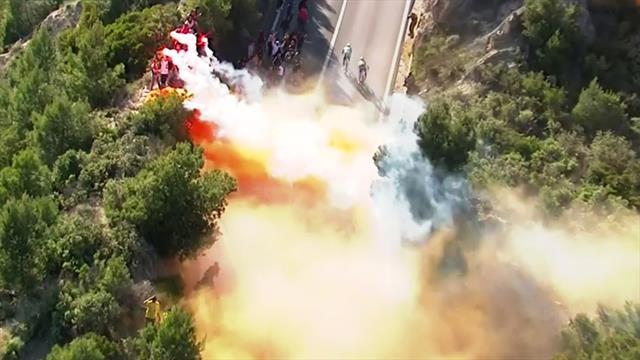 Pyrotechnik und Feuer: Fans gefährden Fahrer bei Mailand-Sanremo