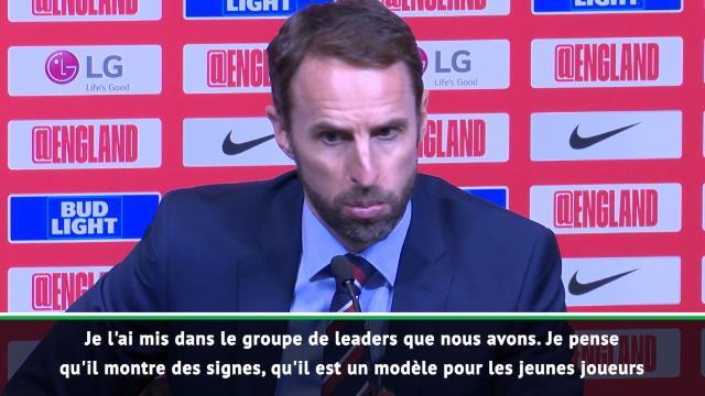 """Angleterre - Southgate : """"Sterling est un modèle pour les jeunes"""""""""""