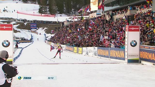Biathlon | Boe wint 12,5 kilometer achtervolging in Oslo