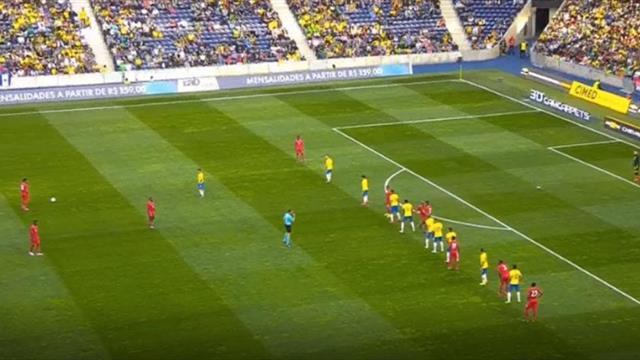 2 мяча из товарищеского матча, в котором Бразилия почему-то не выиграла у Панамы