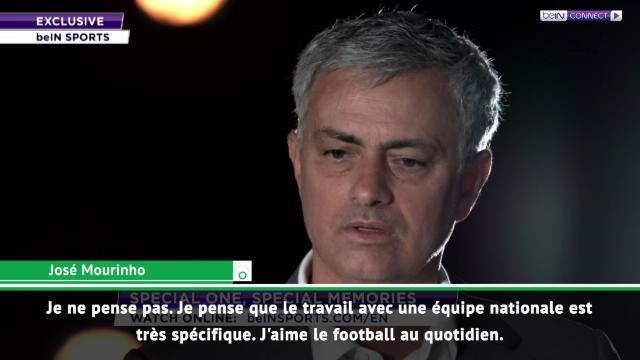 """Mourinho : """"Entraîner une sélection, qui sait?"""""""