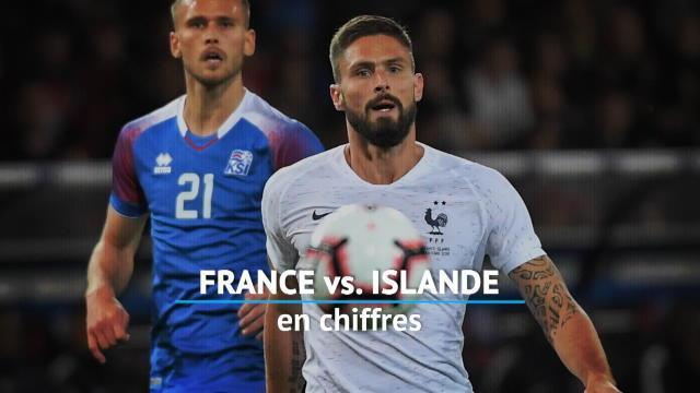 Bleus - France vs. Islande en chiffres