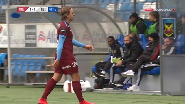 Molde-treneren om at Bjørnbak måtte forlate banen: – Det var noe i hoften
