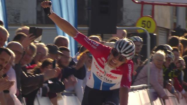 Van der Poel wins Grand Prix de Denain after solo breakaway