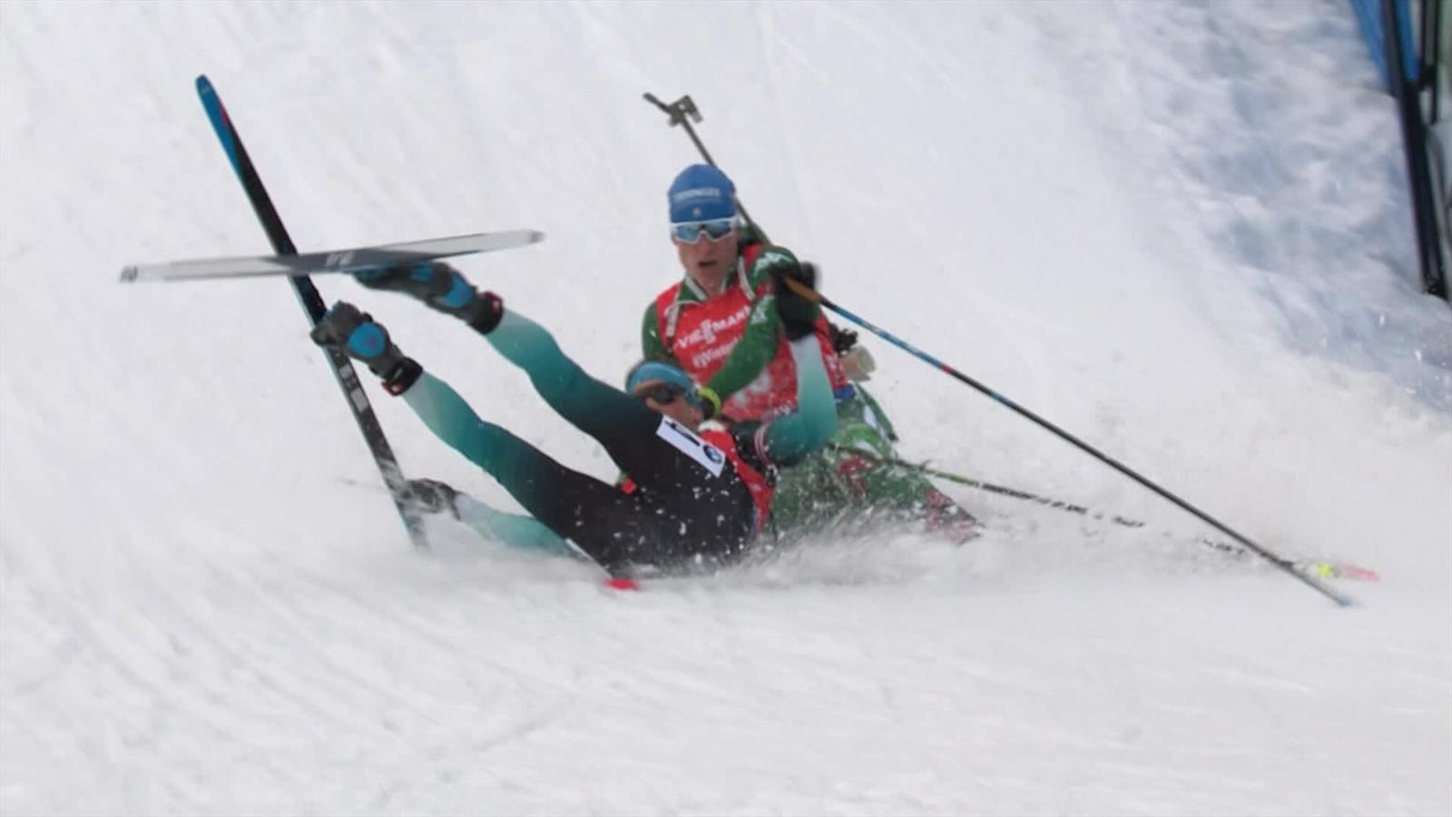 Billedresultat for biathlon fall