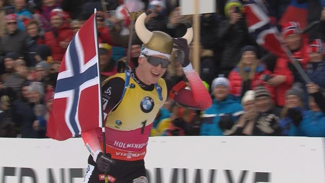 Highlights: 'Untouchable' Boe clinches latest win in Holmenkollen mass start