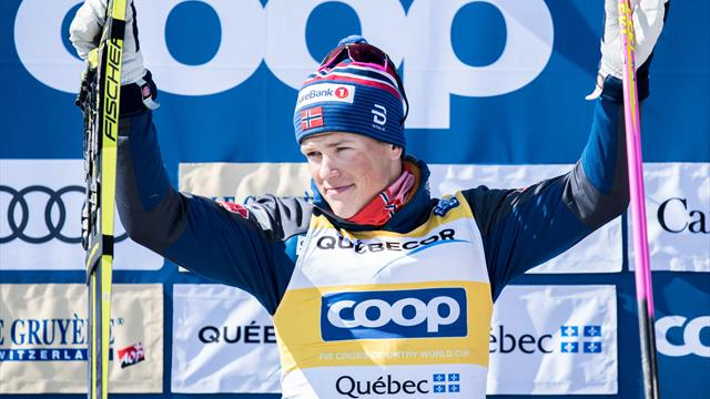 Klaebo clinches cross-country title with victory in Canada