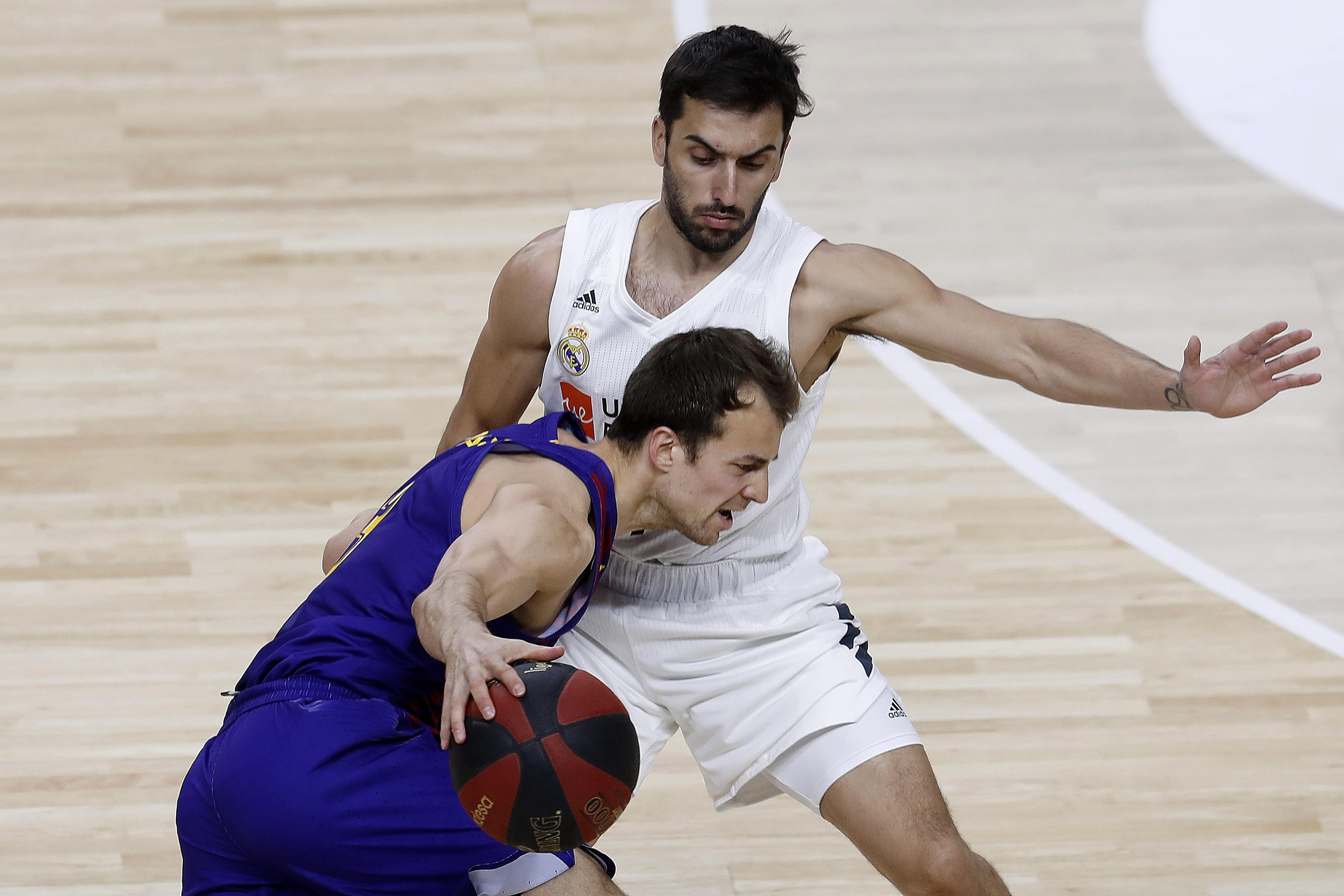 Campazzo en el Real Madrid-Barcelona liga ACB
