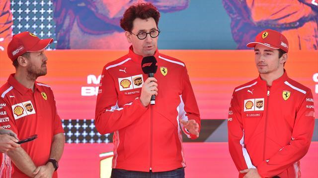 """Binotto: """"Non c'è un primo pilota in Ferrari, il più veloce è aiutato dal compagno di squadra"""""""