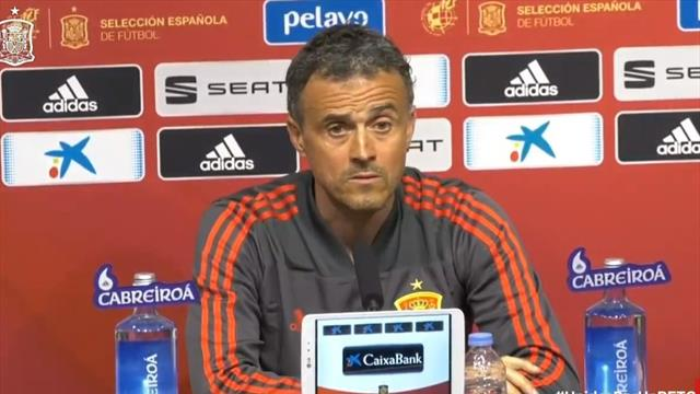 """Luis Enrique, sobre la falta de gol de España: """"Tenemos mejor media anotadora que el Barça"""""""