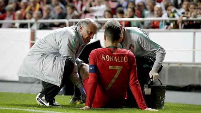 👀🚑 La Juve confirma la lesión de Ronaldo en el Portugal-Serbia; Cristiano tranquiliza a los fans
