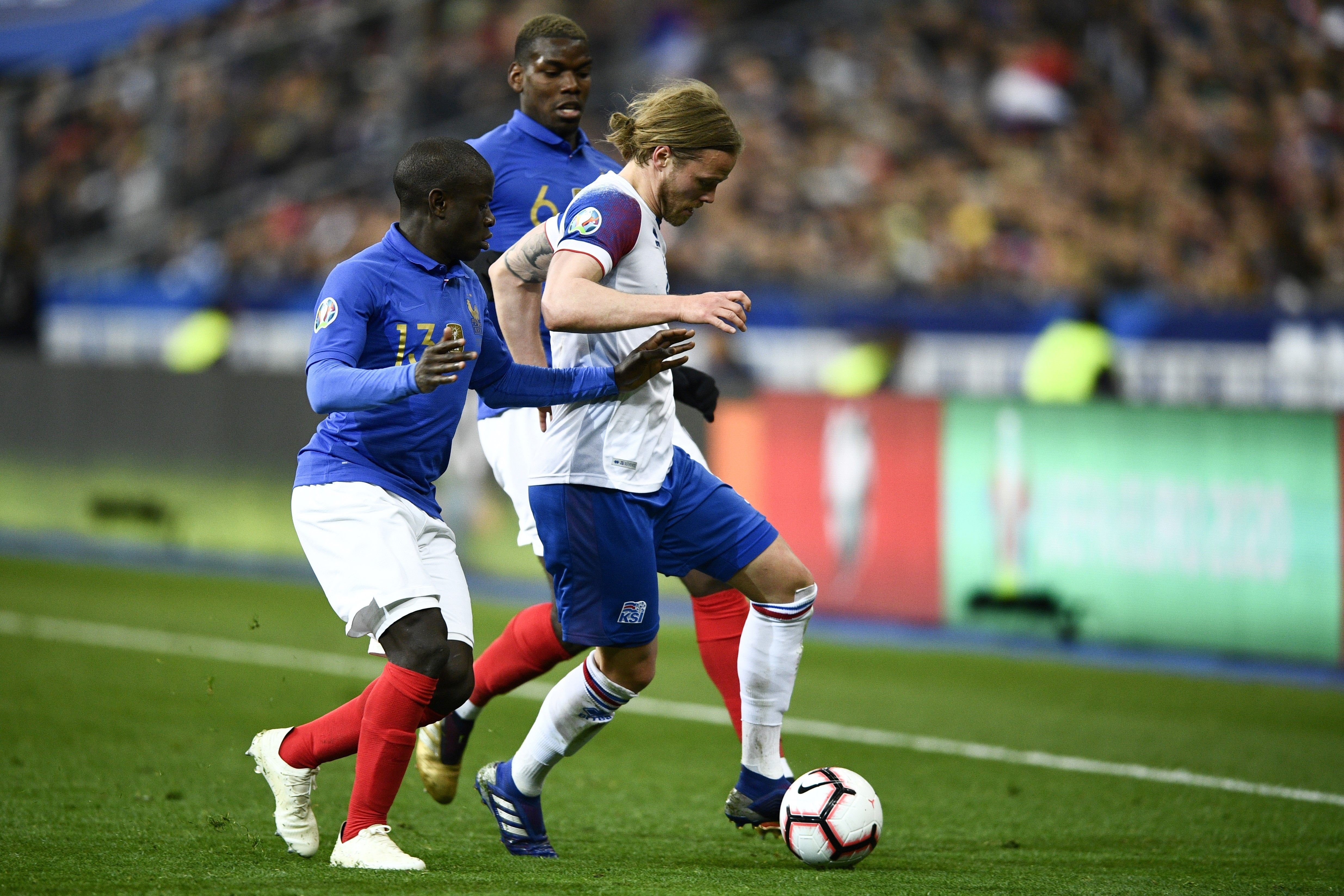 N'Golo Kanté et Paul Pogba lors de France - Islande - Qualifs Euro 2020 - 25 mars 2019