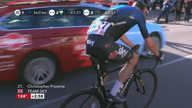 Froome survives crash on Tour of Catalunya
