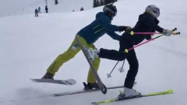 Lindsey Vonn se pasa al esquí-ballet, una antigua modalidad olímpica muy llamativa