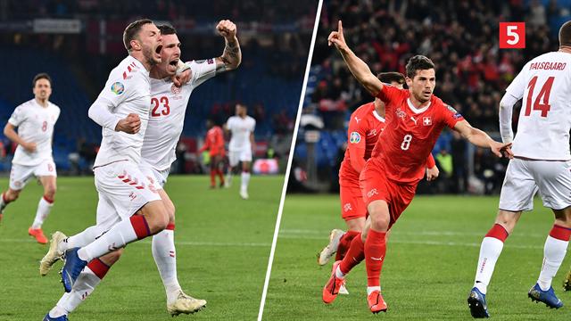 Highlights: Vanvittigt dansk tre-måls comeback i Basel giver danskerne point
