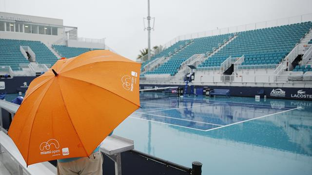 Le jeu reprend après plusieurs heures d'interruption par la pluie