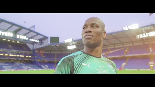 Дрогба вернулся на «Стэмфорд Бридж» и порадовался баннеру «легенда» в рекламе ЮНИСЕФ