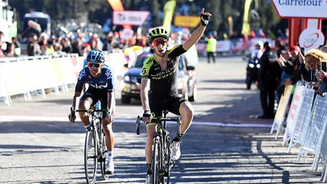 Adam Yates produces stunning finish to win stage three