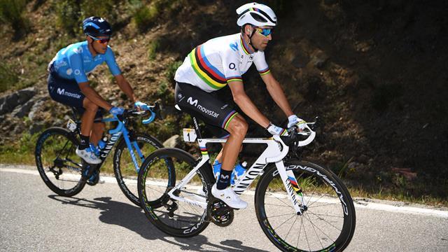 Asphyxié par le rythme de la Sky, Valverde a craqué à plus de six bornes du sommet