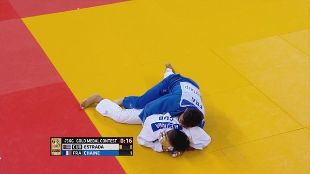 Chaine claims gold for France in -73kg final