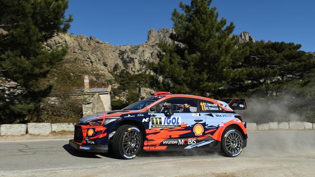 Neuville leads after Tanak Corsica WRC drama