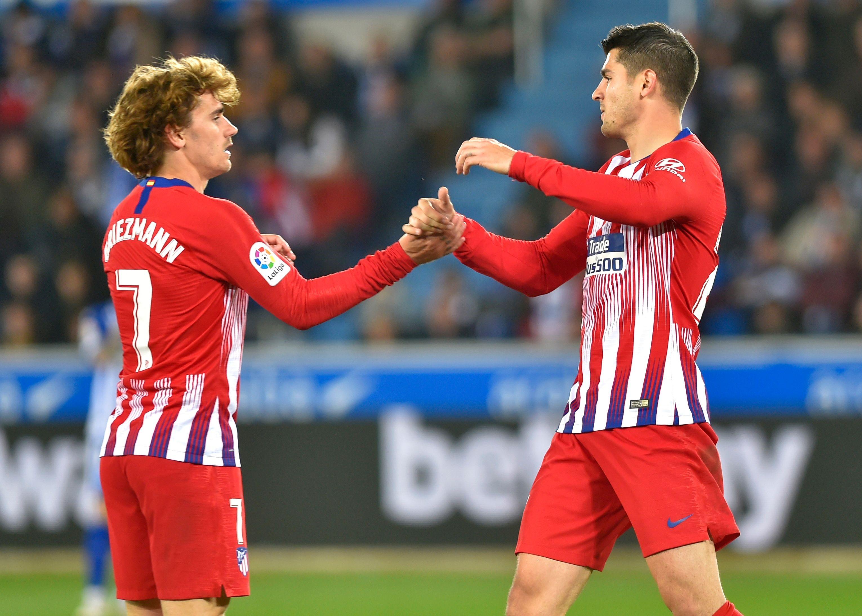 Griezmann ve Morata, Atlético Madrid