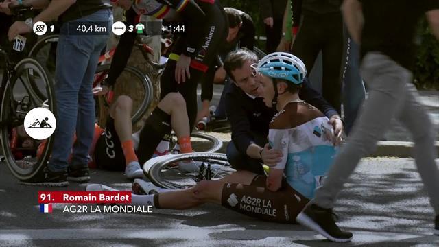 Лютая жесть в Каталонии: столкнулись десяток велогонщиков, включая Барде