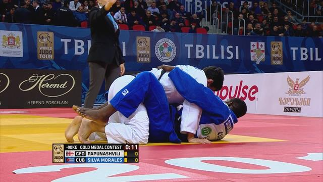 Silva Morales edges -90kg final with golden score
