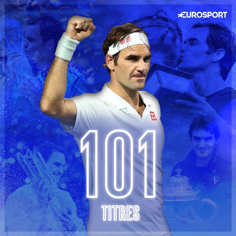 Roger Federer, 101 title