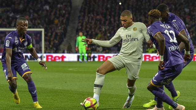 Il solito Mbappé: il super incerottato PSG vince 1-0 a Tolosa
