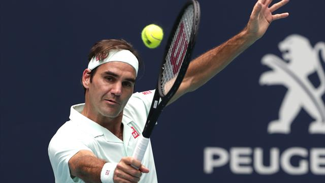 Federer wins 101st title, beating Isner in Miami Open final