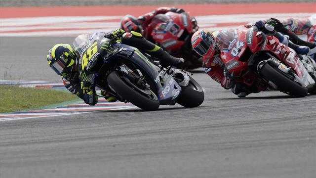 Dernier tour de folie à Termas : Rossi a croqué Dovizioso, Morbidelli a harponné Viñales