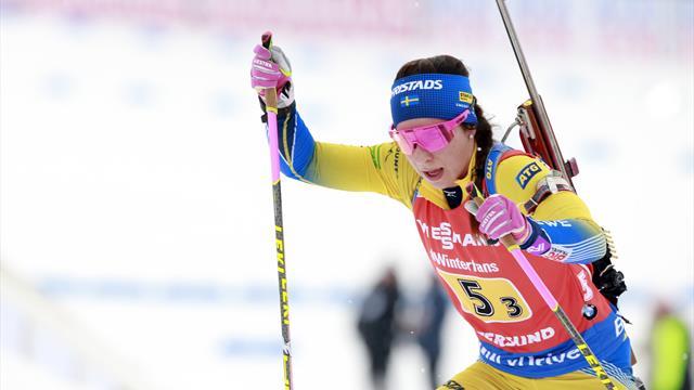 Шведская биатлонистка выиграла бронзу мужской эстафеты на национальном чемпионате
