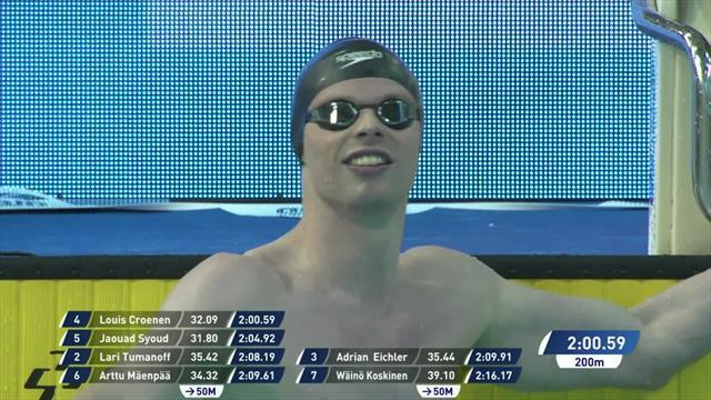 Classy Croenen wins Men's 200m Butterfly