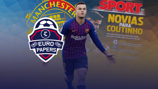 Euro Papers: Barca line up United as Coutinho's 'bride'