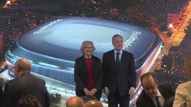 Florentino Perez presents new Bernabeu with a roof