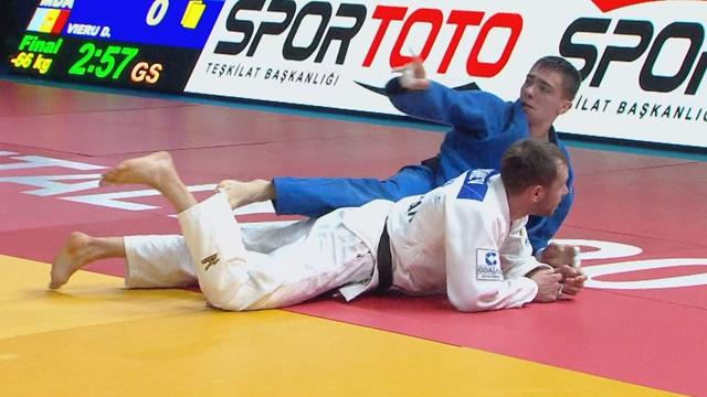 Vieru makes history for Moldova with -66kg gold in Antalya