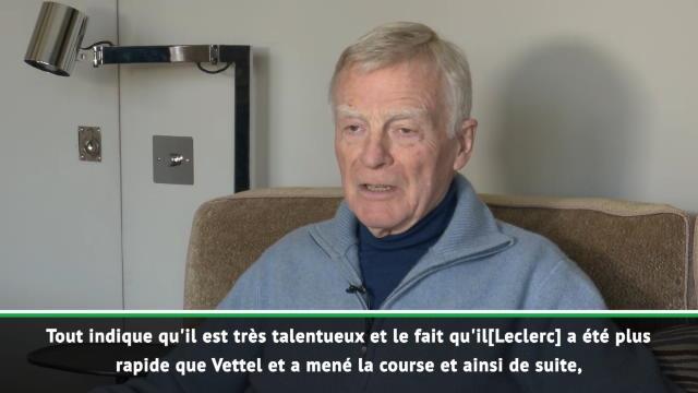 "F1 - Mosley : ""Leclerc est très talentueux"""