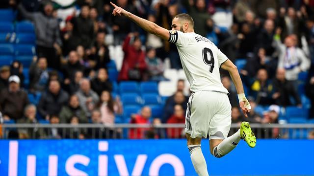 Benzema salva un Real Madrid bruttino: 2-1 e rimonta all'Eibar