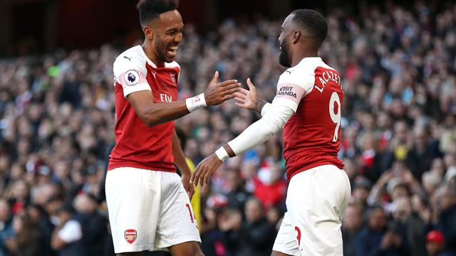 'I like to play with two strikers but I don't want to say it' - Aubameyang