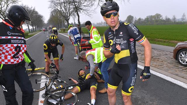Terpstra forfait pour Paris-Roubaix après sa chute