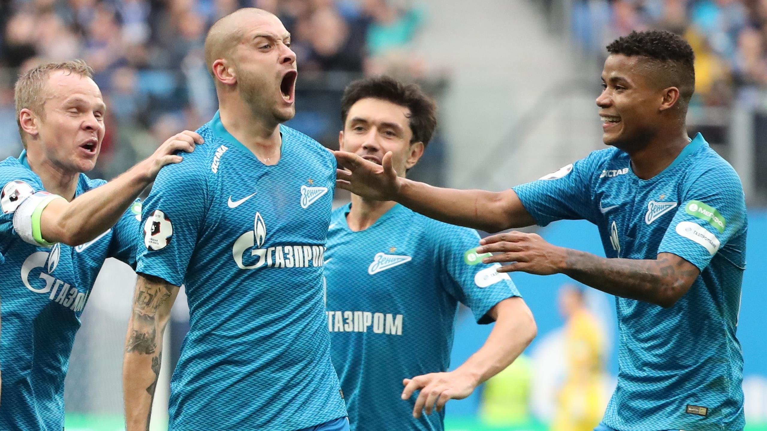 Составы команд зенит боруссия