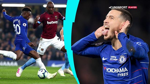Highlights: Fantastiske Hazard tryllede vigtige point hjem til Chelsea mod West Ham