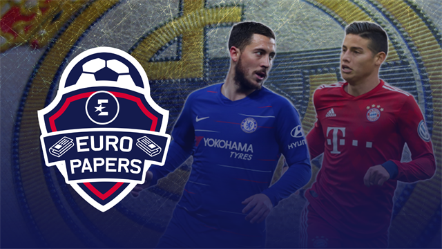 Euro Papers: Will Hazard's Real relocation push James Rodriguez to England?