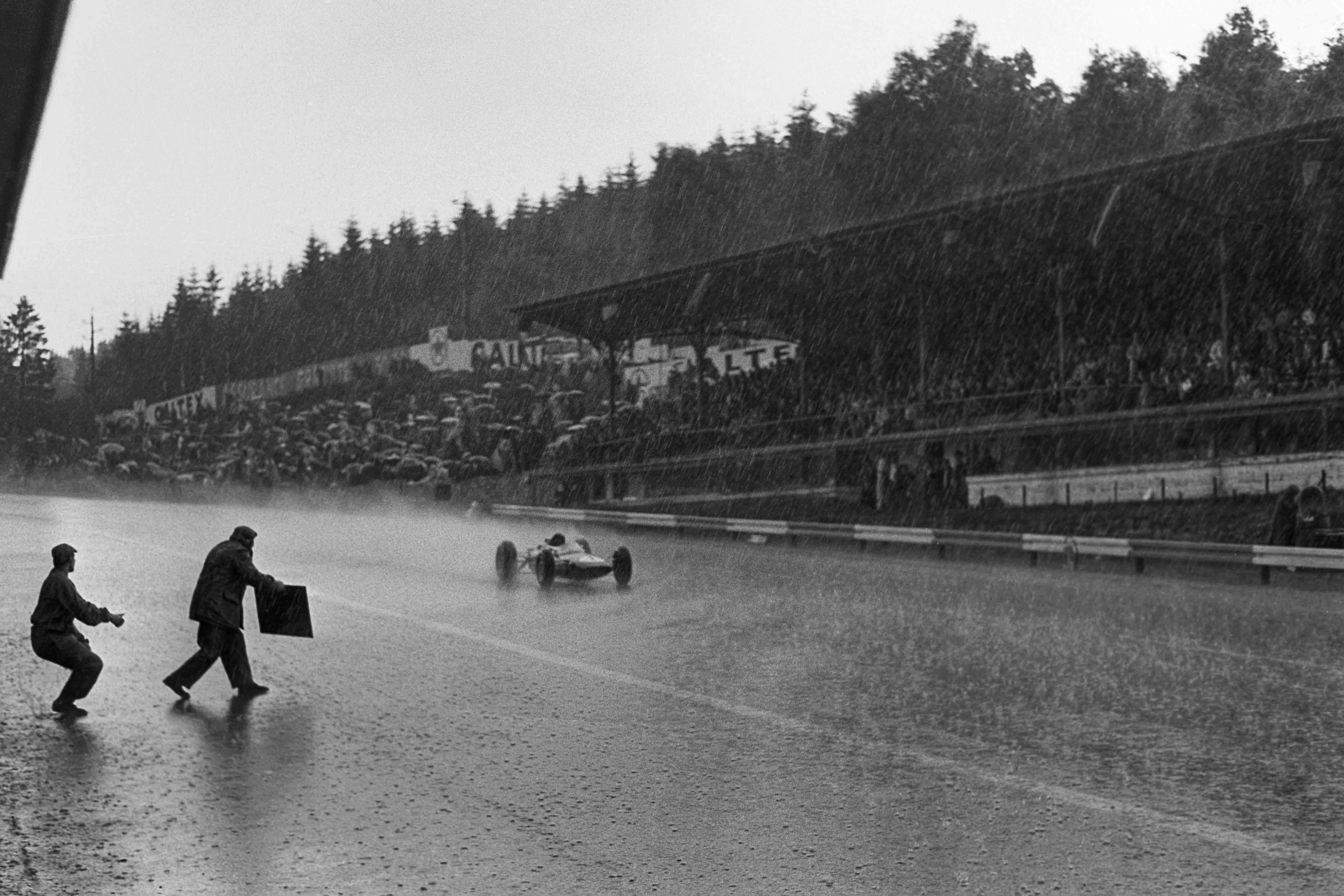 Jim Clark (Lotus) au Grand Prix de Belgique 1963