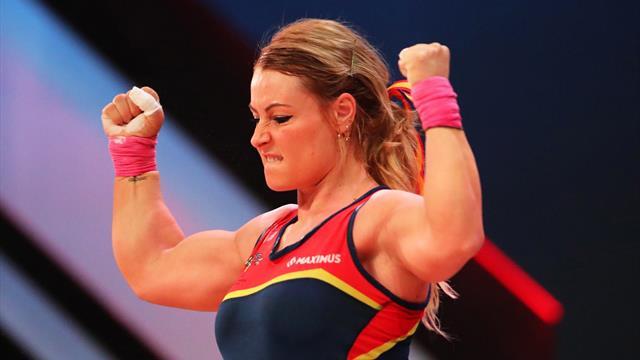 Lydia Valentín continúa con sus entrenamientos en casa